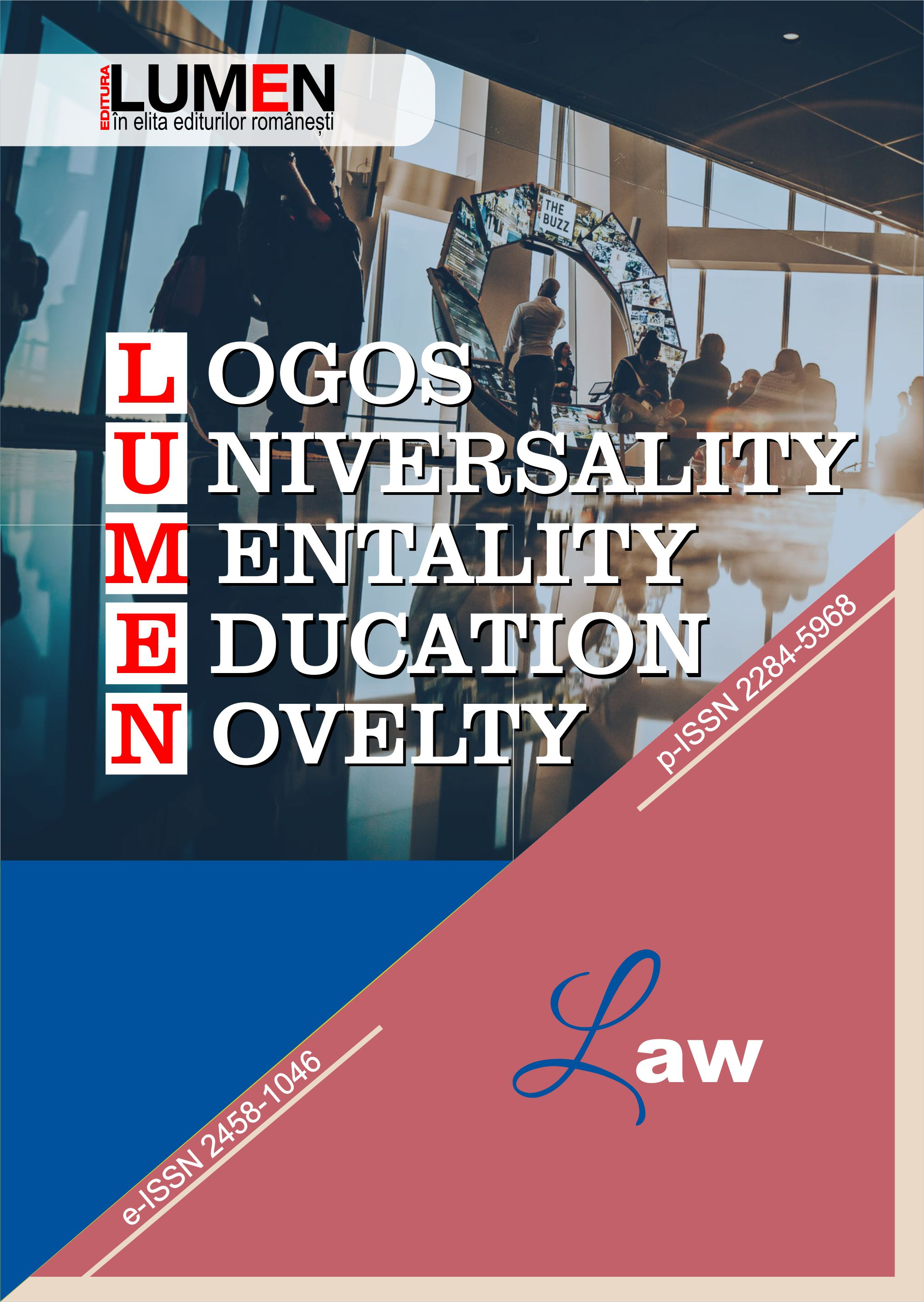 Publish your work with LUMEN COVER LOGOS Law 2019