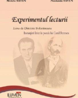 Publish your work with LUMEN SAVIN Experimentul lecturii