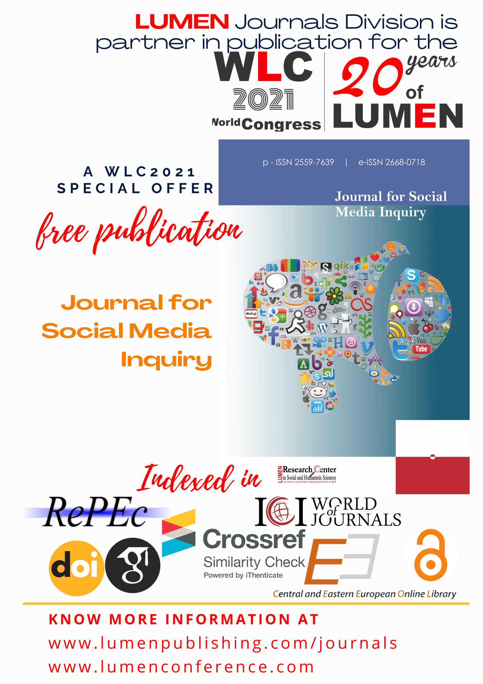 Publish your work with LUMEN Jsmi WLC2021LUMEN journals