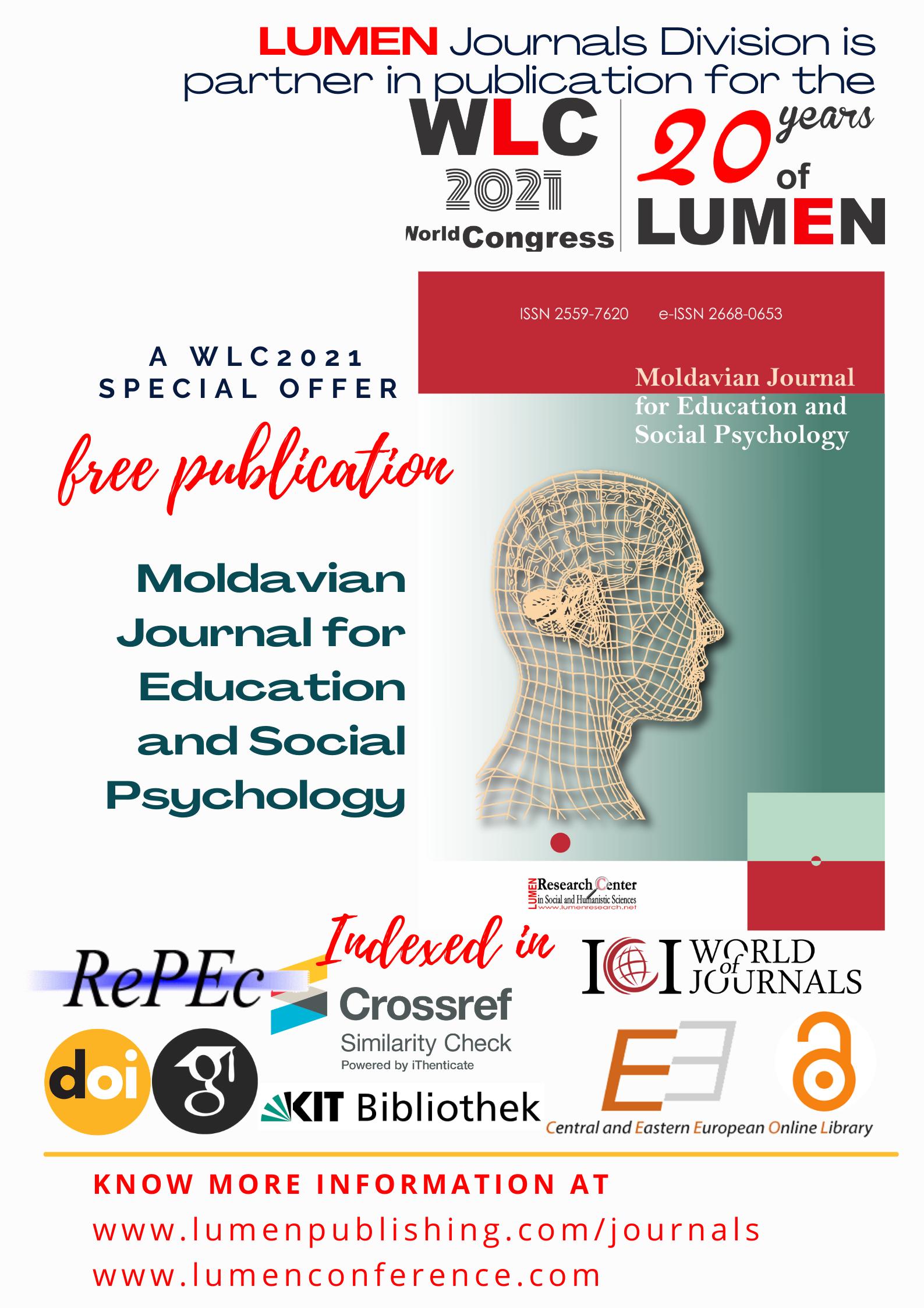 Publish your work with LUMEN MJESP WLC2021LUMEN journals